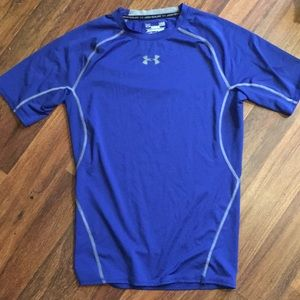 Under Armour Blue and Grey Compression Shirt